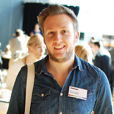 Magnus Larsson, web art director p� Hillmarketing